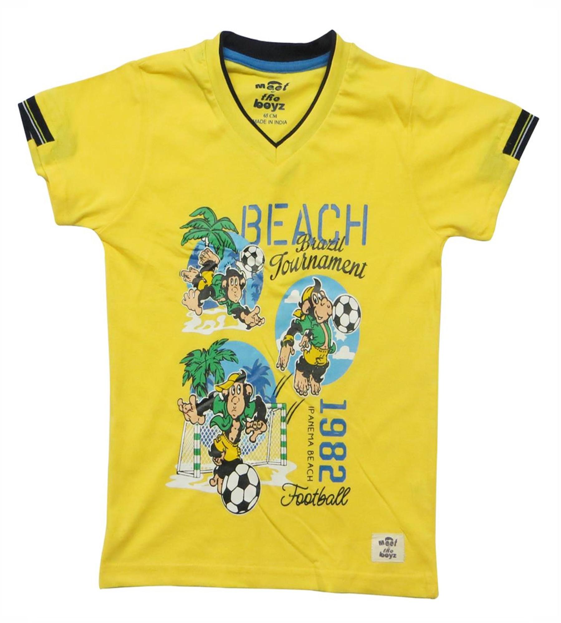 Kothari Boys Yellow T.Shirt